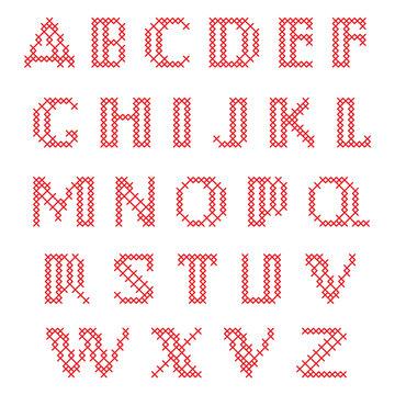Cross Stitch Alphabet, Lower Case Letters
