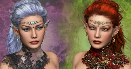 Two female Elven