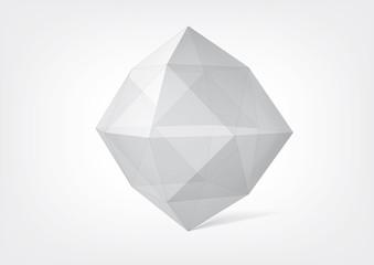 Transparent crystal polyhedron