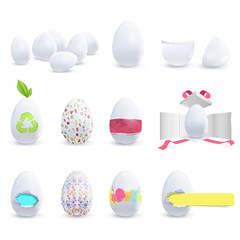 Colecction of decorated eggs.