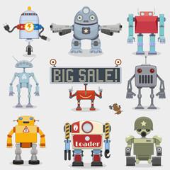 Cartoon robots collection