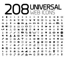 Black icon set : web, internet, business