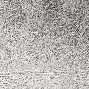 close up shot of silver leather texture background