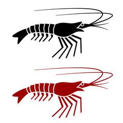 vector shrimp silhouette