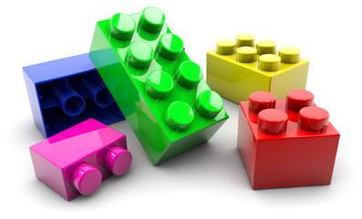 Obraz Blocks - color - fototapety do salonu