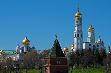 Fototapete - Moscow Kremlin churches