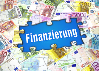 Fotobehang Wereldkaart Finanzierung