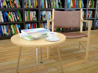 Sessel und Buch