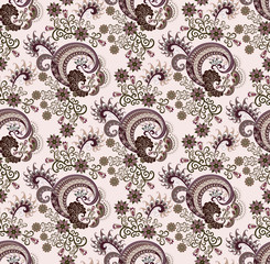 paisley in shades of lilac