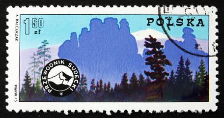 Postage stamp Poland 1975 Mountain Guides' Badge