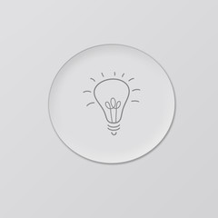 Idea bulb icon on grey background