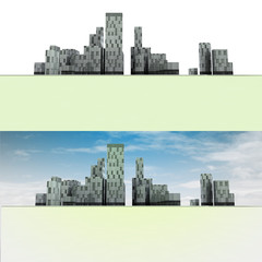two general panoramic cityscape views