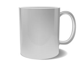 White blank mug for branding isolated