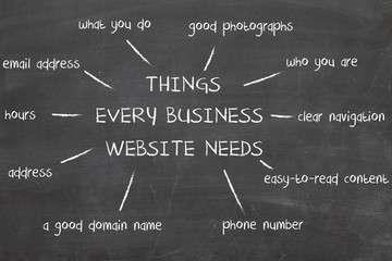 things  very business website need
