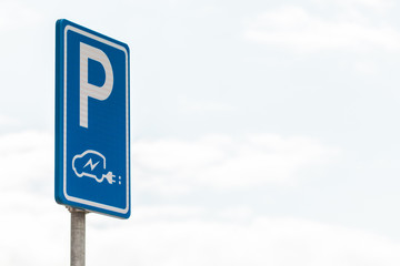 Dutch sign for charging an electric vehicle