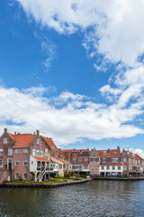 View at the ancient Dutch city Enkhuizen