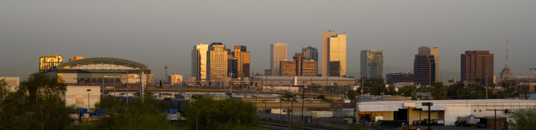 Buildings of Phoenix Arizona Skyline Before The Sun Rises