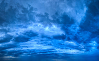 Background of Blue Texture of Skyscape