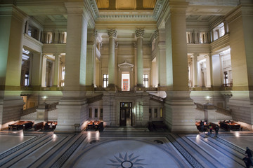 Bruxelles, Belgium - April, 4 2013: Palace of Justice (Palais de
