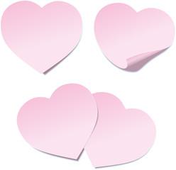 Heart Post it note ( Herz Post-it - Haftnotiz )