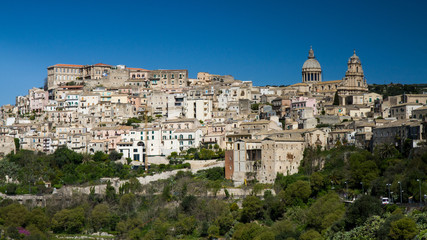 Fototapete - Panorama of Ragusa