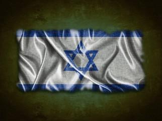 Vintage Israel flag.