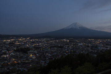 Mt Fuji view in twilight