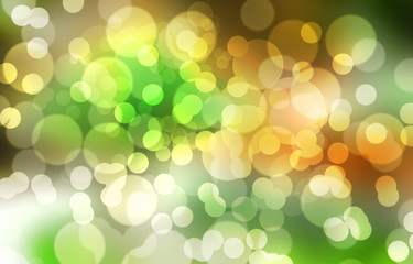 Abstract green background with bokeh lights