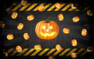Sfondo di Halloween con zucca 3D