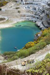 Delabole slate quarry North Cornwall England UK