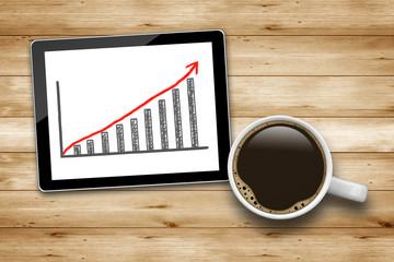 Tablet PC mit Chart
