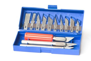 a set of knives for the paper layout