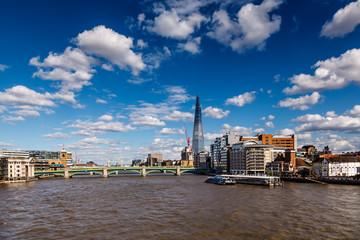 The Shard and Southwark Bridge in London, United Kingdom