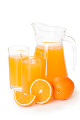 Fototapete - Orange juice in a glass jar