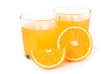 Fototapete - Orange juice in a glass