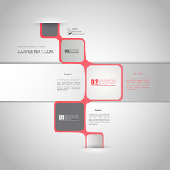 Abstract minimalistic bubble style web design