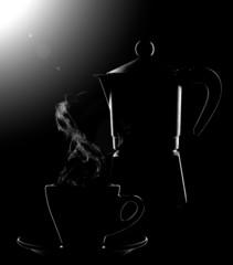 caffè silouette