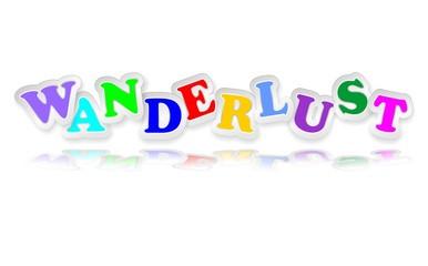 Wanderlust Sticker Letters Colors-Desiderio di Viaggiare Adesivo