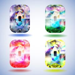Shiny diamond with clipping path