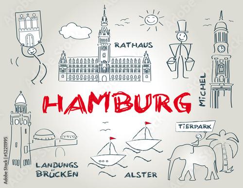 hansestadt hamburg wahrzeichen illustration stockfotos und lizenzfreie vektoren auf fotolia. Black Bedroom Furniture Sets. Home Design Ideas