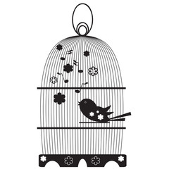 Recess Fitting Birds in cages Vintage birdcages with bird