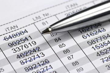 iTAN Liste fürs Online-Banking