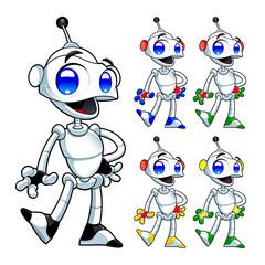 Deurstickers Robots Funny robot.