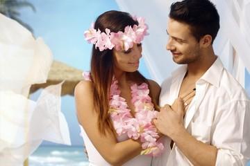 Exotic wedding and honeymoon