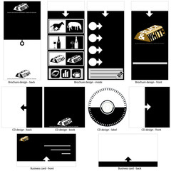 black and white template design.