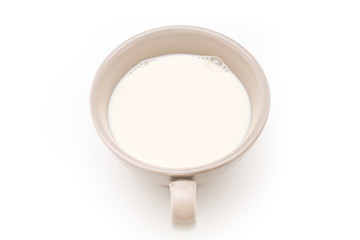 Cup of milk.