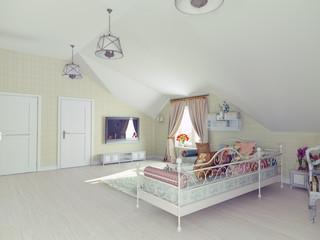 interior of the attic