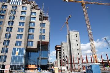 Office building under construction, Oslo, Norway