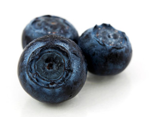 Blueberry with waterdrops