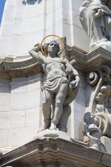 Saint Sebastian in the Holy Trinity column of Budapest, Hungary